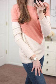 JENNIFER!  Please send me this! Presley Colorblock Button-Back Sweater from 41Hawthorn - January Stitch Fix