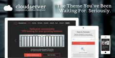 CloudServer - One Page Responsive Hosting Template (Hosting) - Template, Themes, Graphic, Design Collection
