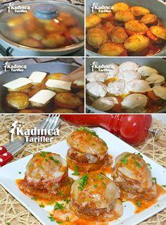 TENCEREDE KAŞARLI PATATES KÖFTE TARİFİ http://kadincatarifler.com/tencerede-kasarli-patates-kofte-tarifi
