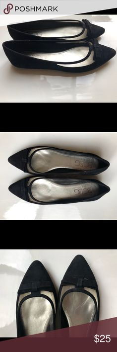 5a1c29968 Shop Women s BCBG Black size Various Flats   Loafers at a discounted price  at Poshmark. Description  BCBG Black Faux suede flats - amazing for work  shoes ...