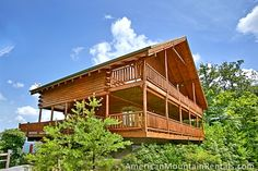 2 Bedroom fairly private Log Cabin with stunning views front and back located in Brothers Cove Development in Pigeon Forge that will sleep 6 people with 3 Bathrooms, 1 King size bed, 1 Queen size bed, 1 Queen sleeper sofa and 11 entry steps. Gas Fireplaces and Jacuzzi Tubs in each bedroom.