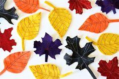 DIY Fall Felt Leaves