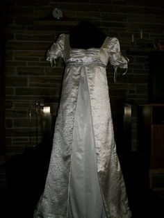 Custom Made Regency Jane Austen empire waist ball dress gown. $149.99, via Etsy.