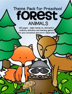Forest animals theme activities and printables for preschool and kindergarten - KidSparkz