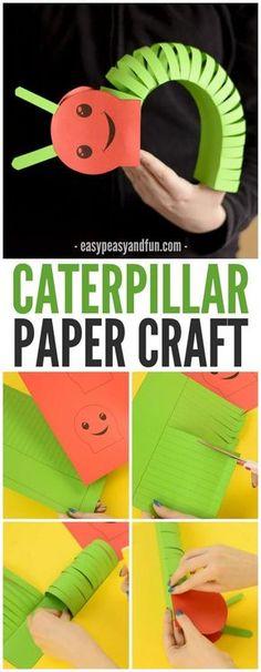 3D Paper Caterpillar Craft! A great process craft for kids! Good pairing with The Hungry Caterpillar Book!