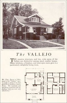 The Vallejo - 1922 Lewis Manufacturing Company (Lewis Homes: Homes of Character, 1922)