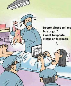 #Facebook addict ......... seriously ladies put your freakin phone down and enjoy your new babes.