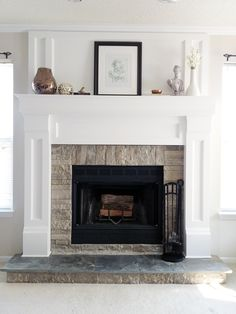 Fireplace Makeover: Painting Tiles, Fireplace Before And After   Share Your  Craft   Pinterest   Tiled Fireplace, Paintings And Mantle