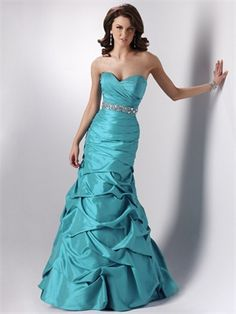 Ball Gown Sweetheart With Beaded Wasitband Ruffled Taffeta Prom Dress PD10478 www.dresseshouse.co.uk $108.0000