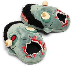 Plush Zombie Slippers