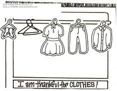 32 - I Am Thankful For Food & Clothing