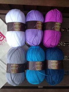 Stylecraft Special DK 6-pack of yarn 6x100g purple by Jamborel