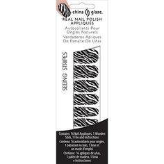 China Glaze Nail Applications, Seeing Stripes White ** Learn more by visiting the image link. (This is an affiliate link) #FootHandNailCare