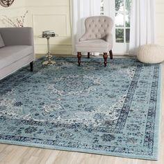 Safavieh Evoke Light Blue/ Light Blue Vintage Area Rug (9' x 12') - 18054262 - Overstock.com Shopping - Great Deals on Safavieh 7x9 - 10x14 Rugs