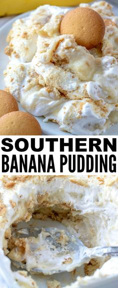 When it comes to desserts this Southern Banana Pudding is a classic and easy recipe that is completely homemade, feeds a crowd and is super addicting! via # super Easy Recipes Southern Banana Pudding - A delicious homemade pudding recipe! Banana Pudding Desserts, Southern Banana Pudding, Köstliche Desserts, Dessert Recipes, Southern Desserts, Recipes Dinner, Homemade Banana Pudding, No Bake Banana Pudding, Homemade Vanilla