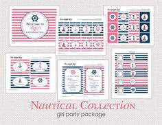 Girl Nautical Birthday Party Collection  Sailboat by theuniqueday, $25.00