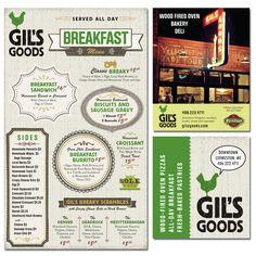 Gil's Goods branding - #menu #diseño