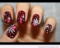 Red and white snowflakes for Christmas
