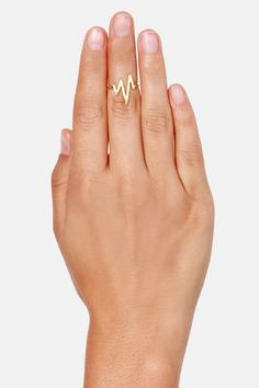 Cute Lightning Ring - Gold Ring - Knuckle Ring