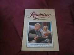 1994 ** Reminisce in Large Print ** Mike Beno  **sj by theadlibrary on Etsy