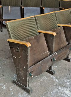 these ones I really want! old cinema chairs :)