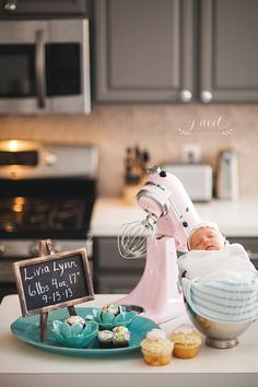 Baby in a mixer! newborn photography ~ j. noel photography