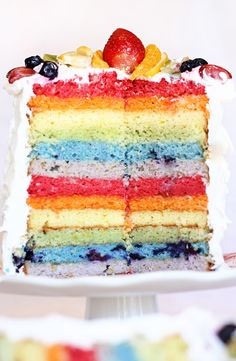 rainbow cake: I like how this one is different- that they use different shades and tints of the rainbow instead of the same value for all the colors