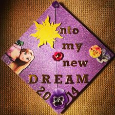 Tangled graduation cap Disney