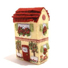 Hand Embroidered Soap Box House