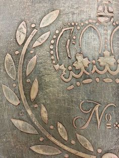Artisan Enhancements Pearl Plaster pushed through a stencil creates the basis for this beautiful finish created in a fun workshop at Studio 184!