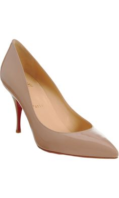 Nude Louboutins with the perfect office heel... I WISH.