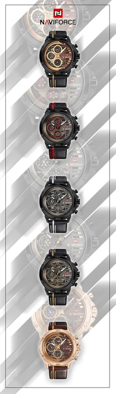 NAVIFORCE luxury sport watches for the daring and bold! - Men's watch military sport chronograph -  men's fashion style top brand affordable accessories #menswatch #menstyle #watches #menswear