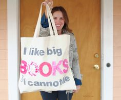 Make your own DIY Book Tote with these simple steps. Use a funny saying or your favorite book quote!