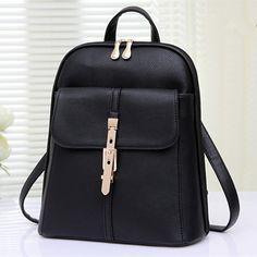 2015 new fashion Multi-function backpack Korean style rucksack women PU leather shoulder bag backpacks for teenage girls A1333