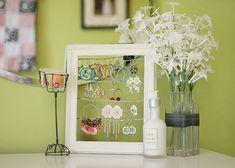 #decoración #reciclaje Organizador de pendientes