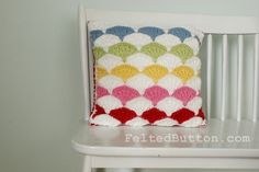 Paintbrush Pillow Cover - Crochet pattern is $5.50 and well worth it.  This is such a different type of pattern and really fun!