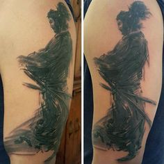 Men's Samurai Tattoo Sleeve On Arms