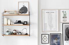 Södermalm stil string bokhylla tavlor