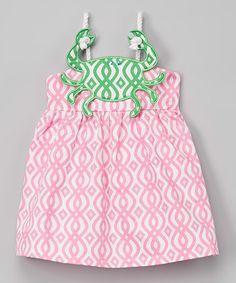 Look at this #zulilyfind! Pink Crab Rope Dress - Infant, Toddler & Girls #zulilyfinds