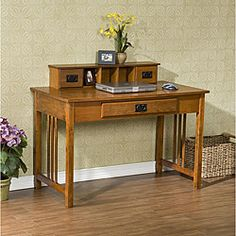 @Overstock - Make your home glow with this stylish oak desk. This mission desk includes plentiful space for your computer, knick-knacks and important papers.http://www.overstock.com/Home-Garden/Mission-Oak-Work-Desk/4874385/product.html?CID=214117 $233.99