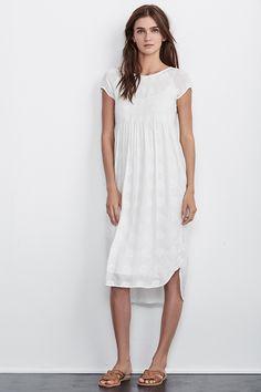 MARCELLA MANDALA EMBROIDERED MIDI DRESS, Velvet by Graham and Spencer. https://velvet-tees.com/women/the-latest/new-arrivals/marcella-mandala-embroidered-gauze-dress-19630e.html