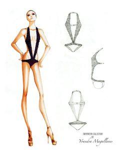 Swimwear Project by Yoandra Ma, Fashion sketches
