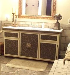 mind blowing make over of barn wood bath cabinets, bathroom ideas, diy, kitchen cabinets, painted furniture, woodworking projects, The make over was dramatic and the results were beautiful So the next time you feel compelled to do something with those old cabinets don t tear them out re do them