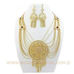Parure Orientale - Mélissa - CC807 bijou, bijoux, oriental, Maroc, Algérie,  Afrique, plaqué or, tradition, traditionnel, arabe, c753201f946