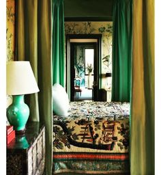 """""""Tony Duquette!! I am really into the Aqua and green hues!!! My mother was amazing at decorating!!! She used these colors with a white slipcovered sofa in…"""""""