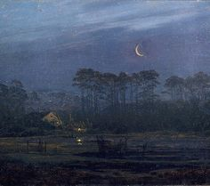 Good night! Caspar David Friedrich (17741840) Lonely House at Pine Forest 1820-1825 c. Wallraf-Richartz-Museum Cologne oil on canvas 19  25.5 cm