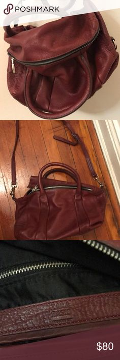 ZARA Burgundy Leather Cross-body (Real leather) Selling a beautiful burgundy cross-body bag in great condition. Real leather, lightly used. Zara Bags Shoulder Bags