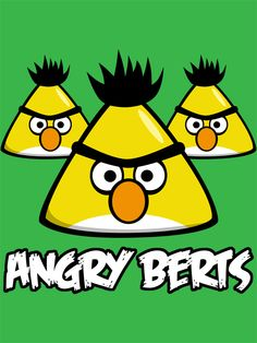 Angry Birds/Sesame Street Mashup - http://www.redbubble.com/people/douglasfir/works/9488826-angry-berts