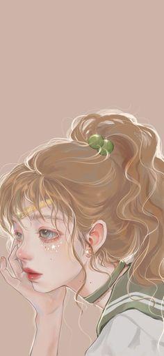 Anime Girl Cute, Anime Art Girl, Cute Cartoon Wallpapers, Animes Wallpapers, Pretty Art, Cute Art, Aesthetic Art, Aesthetic Anime, 8bit Art
