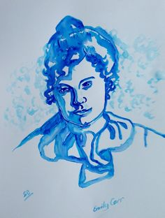 A young Emily Carr Artist (Painting), in by Suzanne Berton A young Emily Carr Artist uses ink on paper Emily Carr, Artist Painting, British Columbia, Original Art, Abstract Art, Canada, Ink, History, Portrait